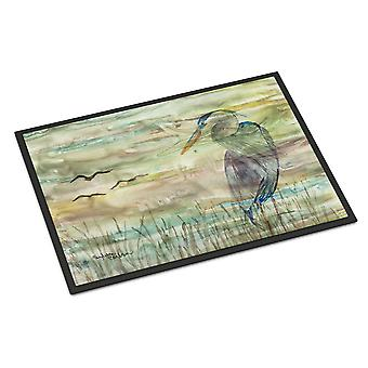 Carolines Treasures  SC2019MAT Blue Heron Sunset Indoor or Outdoor Mat 18x27