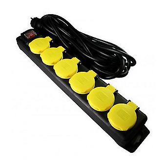 VB Extend Tischsockel mit 6 Kontakten schwarz/gelb