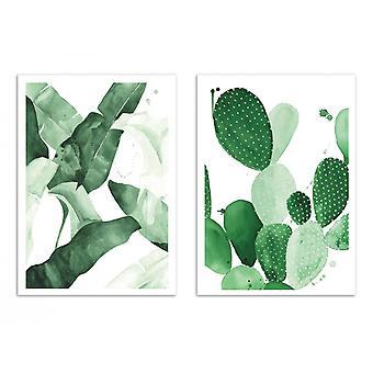 2 art-affischer 30 x 40 cm-Duo växter och kaktus-Jessica den Aestate