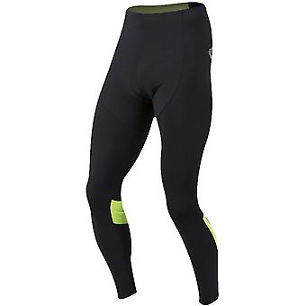 Pearl Izumi Black-Screaming Yellow Pursuit Thermal Without Chamois Cycling Pants