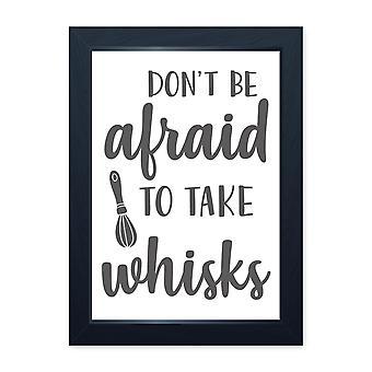 Take Whisks, Quality Framed Print - Home Kitchen Bake Cook Cafe