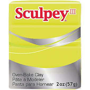 Sculpey III Polymer Clay 2oz-Acid Yellow S302-534