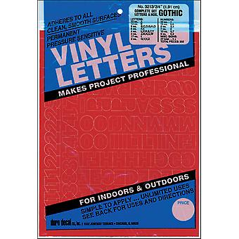 Permanent Adhesive Vinyl Letters & Numbers .75