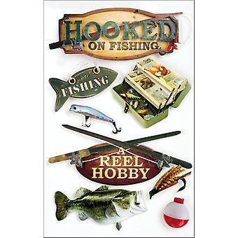 Fishing 3 D Stickers Hooked On Fishing Stdm0005