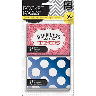 Me & My Big Ideas Pocket Pages Specialty Cards 36Pcs Happiness Is This Tpcx 4