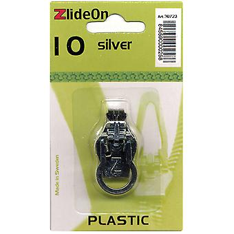 Zlideon Zipper Pull Replacements Plastic 10 Silver 3072 3