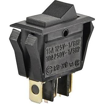 Toggle switch 250 Vac 10 A 1 x On/Off/On SCI R13-72D-01 latch/0/latch 1 pc(s)