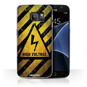 STUFF4 Case/Cover for Samsung Galaxy S7/G930/High Voltage/Hazard Warning Signs