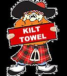 Instakilt Red Tartan Kids Kilt Towel