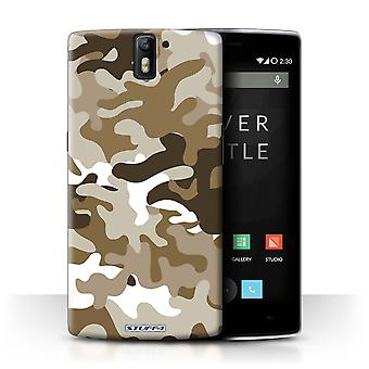 STUFF4 Case/Cover voor OnePlus One/bruin 1/Camouflage Army Navy