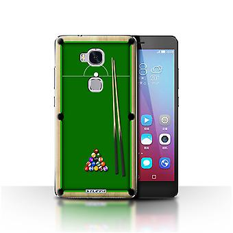 STUFF4 Case/Cover for Huawei Honor 5X/GR5/Pool/Billiards Green/Games