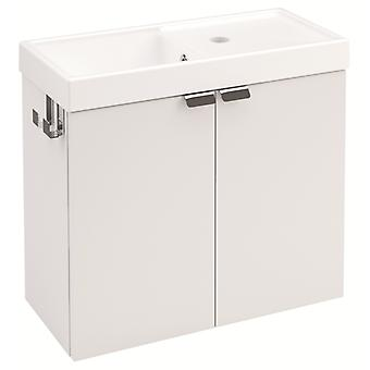 Bath+ Sink cabinet 2 Doors With White Gloss 50CM