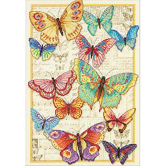 Gold Collection Butterfly Beauty Counted Cross Stitch Kit-10