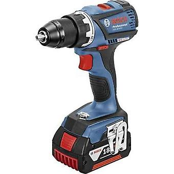 Bosch Professional GSR 18 V-EC Cordless drill 18 V 4 Ah Li-ion incl. spare battery, incl. case