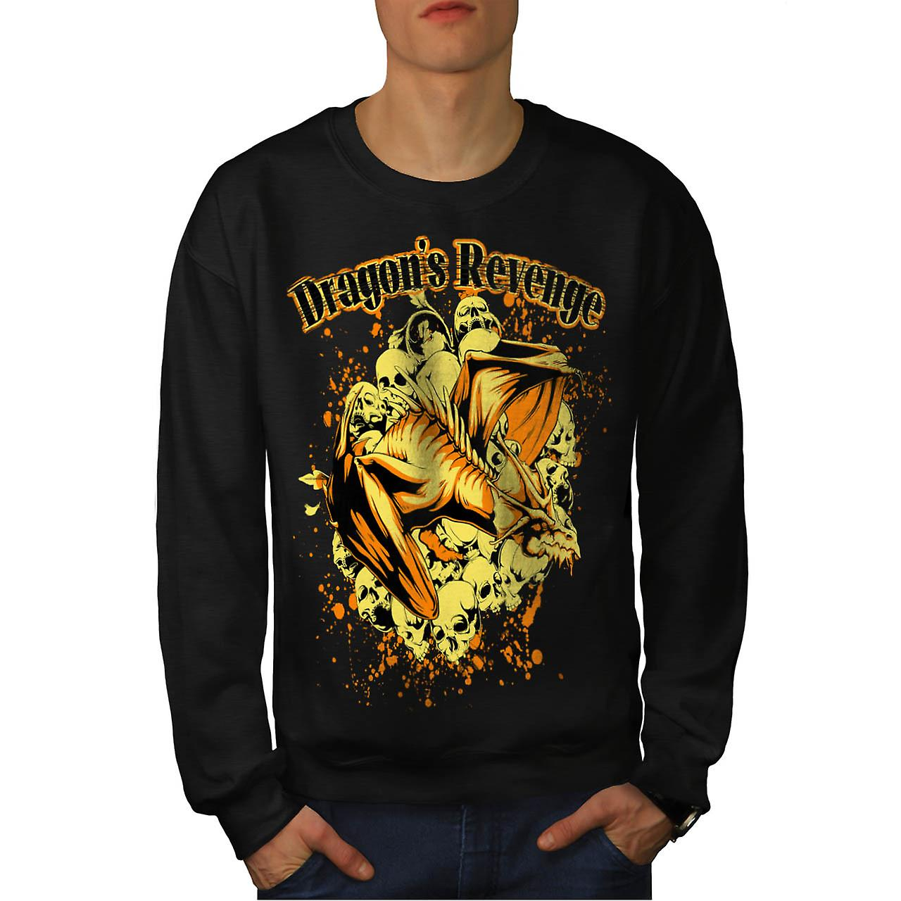 Dragon wraak Rage mythe Monster mannen zwart Sweatshirt | Wellcoda