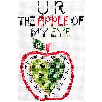My 1st Stitch U R The Apple Mini Counted Cross Stitch Kit-5