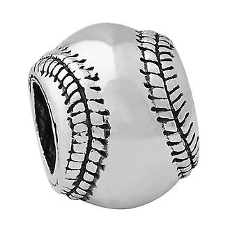 Sterling Silver Reflections Baseball Bead Charm