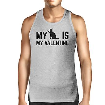 My Cat My Valentine Mens Tank Top Valentine's Gifts For Cat Owners