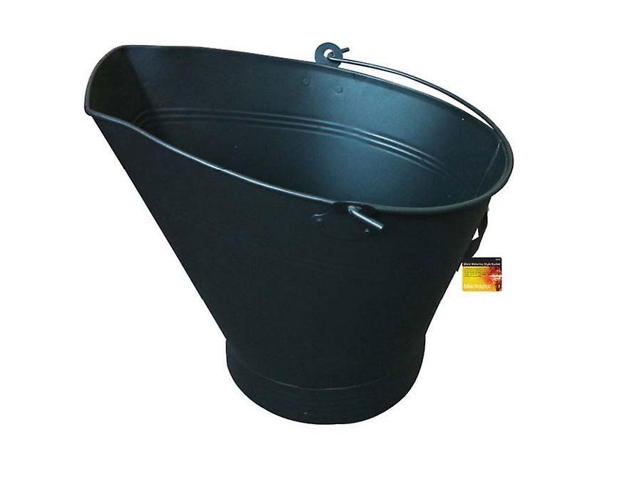 Black Traditional Waterloo Style Bucket Fire Logs Coal Scuttle Storage