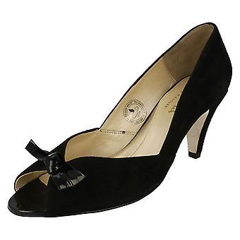 Ladies Van Dal Formal Peep Toe Heels With Bow Trim Heydon