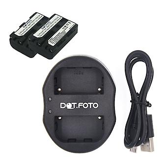 Dot.Foto Sony NP-FM50 Replacement Battery (2-pack) + Dual USB Charger