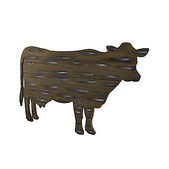 23 pollici di attaccatura di parete del mucca del paese di ritaglio rustico legno esposto all'aria