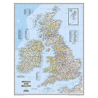 Britain and Ireland Classic tubed Wall Maps Countries & Regions: NG.P602022 (Reference - Countries & Regions) (Map) by National Geographic Maps