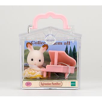 Sylvanian Families Rabbit with Piano Baby Carry Case
