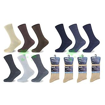 12 Pairs Big foot 100% Cotton Ribb Mens Socks UK 10-13 Size Every Day Socks