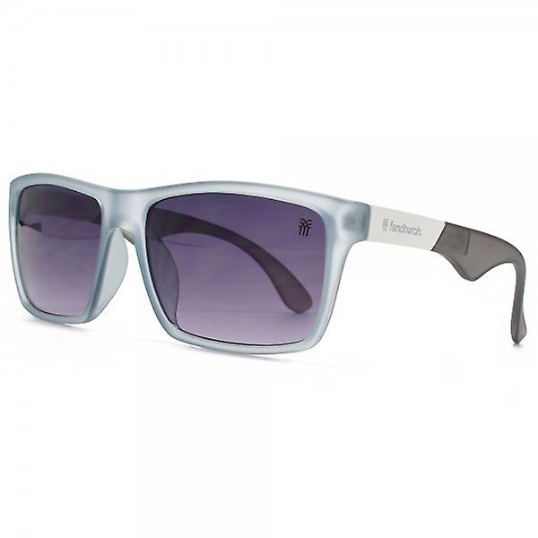 Fenchurch Two Tone Temple Square Sunglasses In Matte Crystal Blue