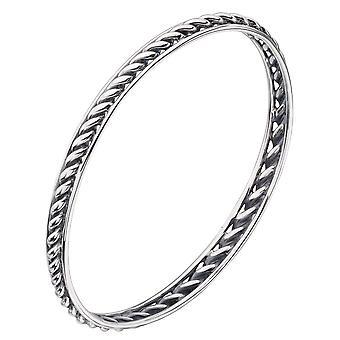 925 srebro skręcana bransoletka