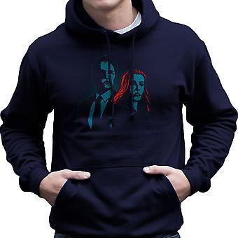 Truth Seekers Mulder and Skully X Files Men's Hooded Sweatshirt