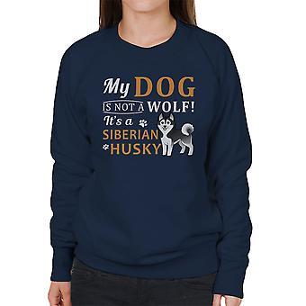 Mi perro no es un lobo A perro esquimal siberiano sudadera mujer