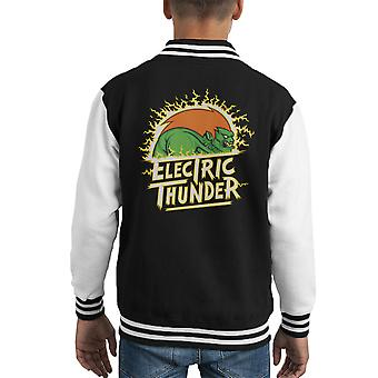 Elektrische Thunder Blanka Street Fighter Kid's Varsity Jacket