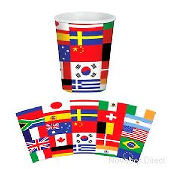 International Flag Cups ( 8 cups per pack)