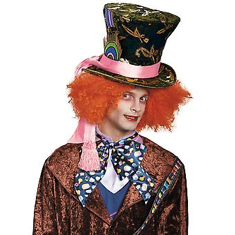 Mad Hatter Prestige Deluxe Disney Alice In Wonderland Story Book Men Costume Hat