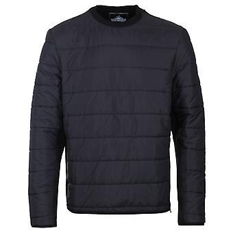 Penfield Black Fairfax Zip Shoulder Quilted Sweater