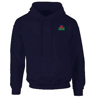 Den kungliga walesiskt broderade TRF Logo - officiella brittiska armén Hoodie Huvtröja med dragkedja