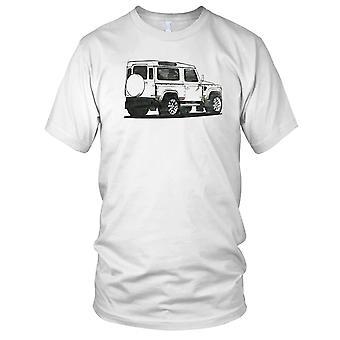 Land Rover Defender Sketch 4x4 Offroad Mens T Shirt