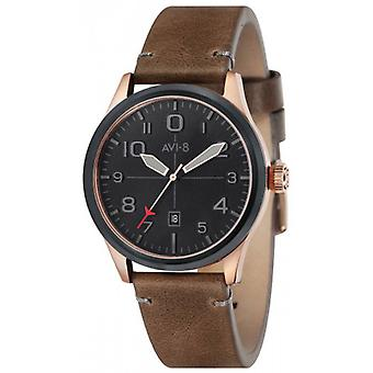 AVI-8 Flyboy Watch - Brown/Black