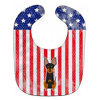 Carolines Treasures  BB3104BIB Patriotic USA English Toy Terrier Baby Bib