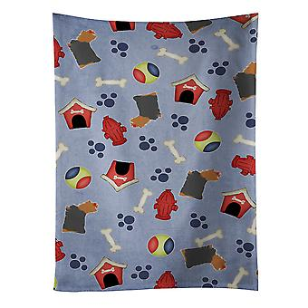 Yorkshire Terrier Yorkie Dog House Collection Kitchen Towel