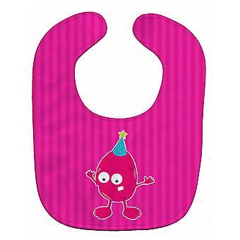 Carolines Treasures  BB8935BIB Birthday Monster Pink Baby Bib