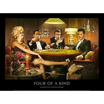 Four of a Kind Poster Print by Chris Consani (32 x 24)