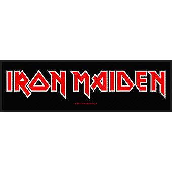 Iron Maiden Patch band logo official Super Strip (19cm x 5cm)