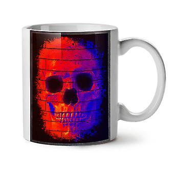 Graffiti arte cráneo nuevo té blanco de Metal cerámica café taza 11 oz | Wellcoda