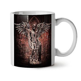 Esqueleto de Ángel roca nuevo té blanco taza de café de cerámica 11 oz | Wellcoda