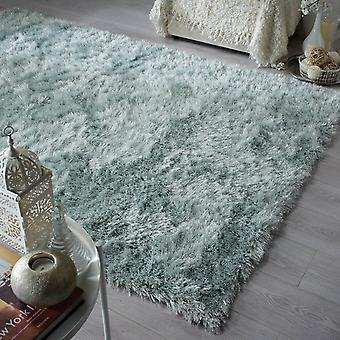 Dazzle Shaggy Rugs In Duck Egg