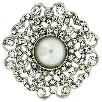Brooches Store Small Dainty Pearl & Crystal Heirloom Brooch