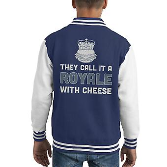 Pulp Fiction Royale With Cheese Movie Quote Kid's Varsity Jacket